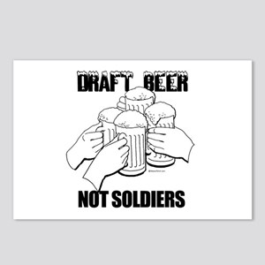 Draft Beer, not soldiers ~  Postcards (Package of